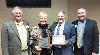 Pictured: (from left to right) IRFA President-elect Brian Cahill, former Sens. Nancy Boettger and Daryl Beall, and IRFA Executive Director Monte Shaw